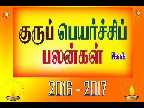 Guru Peyarchi Rasi Palangal 2016 Kumbam