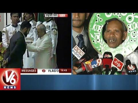 Padma Shri Awardee Vanajivi Ramaiah Express Rejoice   New Delhi   V6 News
