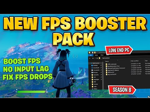 Fortnite FPS BOOSTER Pack For Low End PC ~ Chapter 2 Season 8 (Boost FPS U0026 Fix FPS Drops)