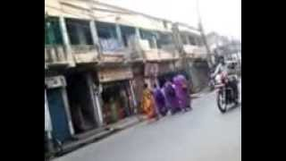 Ladies in Purple saree looking so pretty