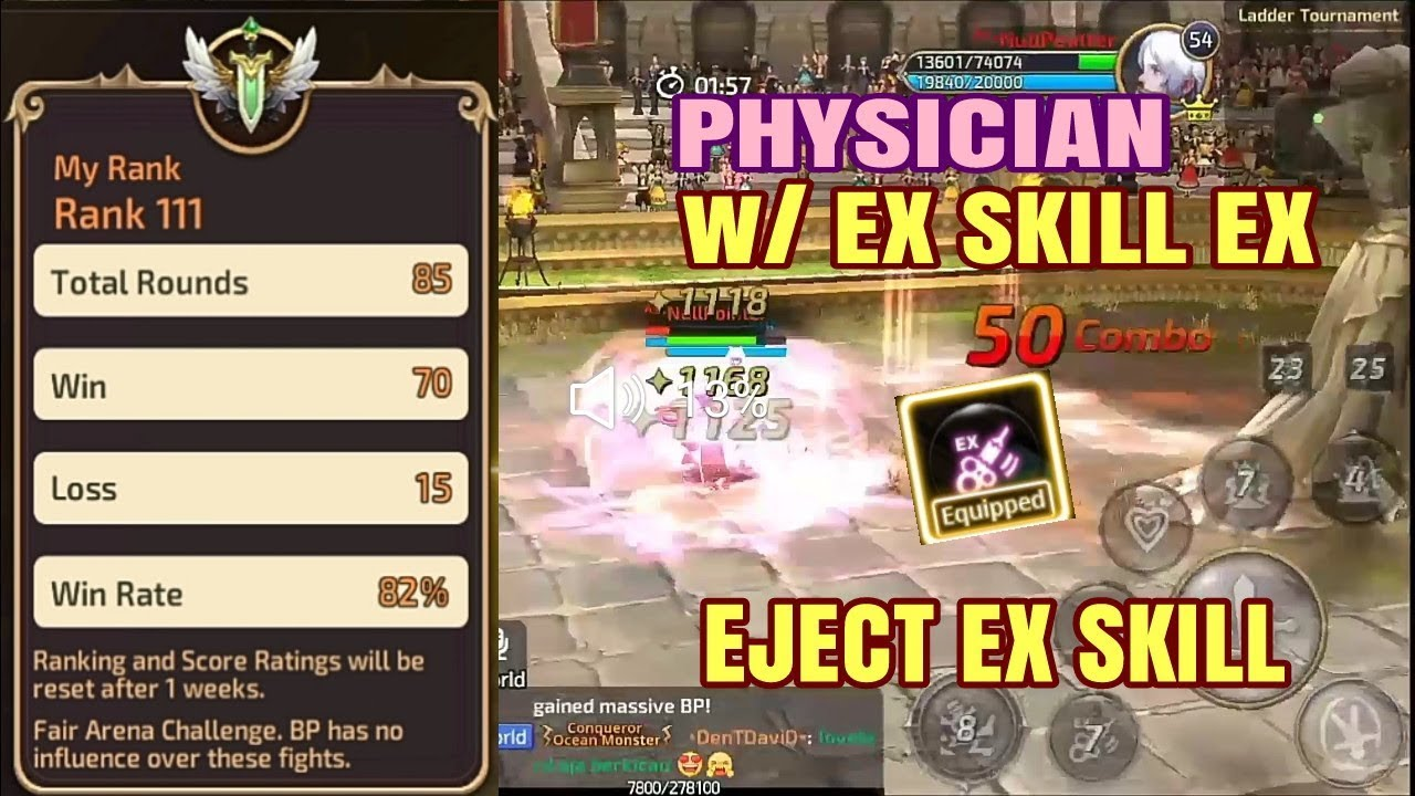 Physician Ladder w/ Skill EX 50 (EJECT SKILL) Playstyle by Hypnotice |  Dragon Nest M SEA