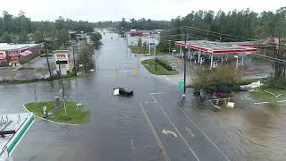 Raw drone footage of flooding in Wilmington