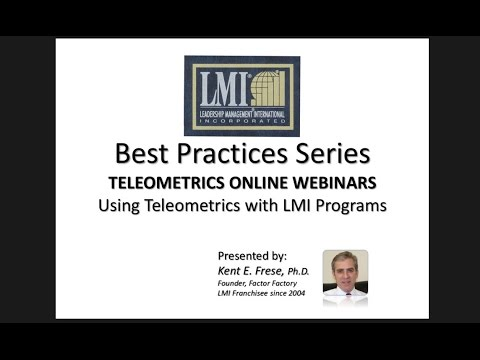 LMI TELEOMETRICS ONLINE WEBINARS   Easy ways to use Teleometrics