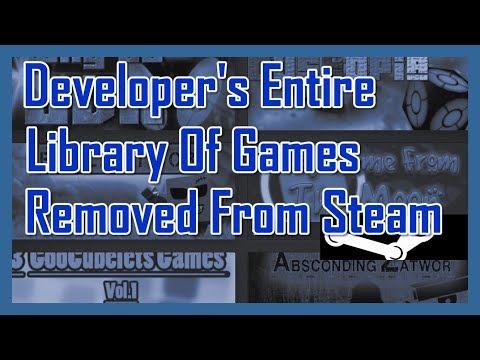 Developer's Entire Library of Games Removed From Steam