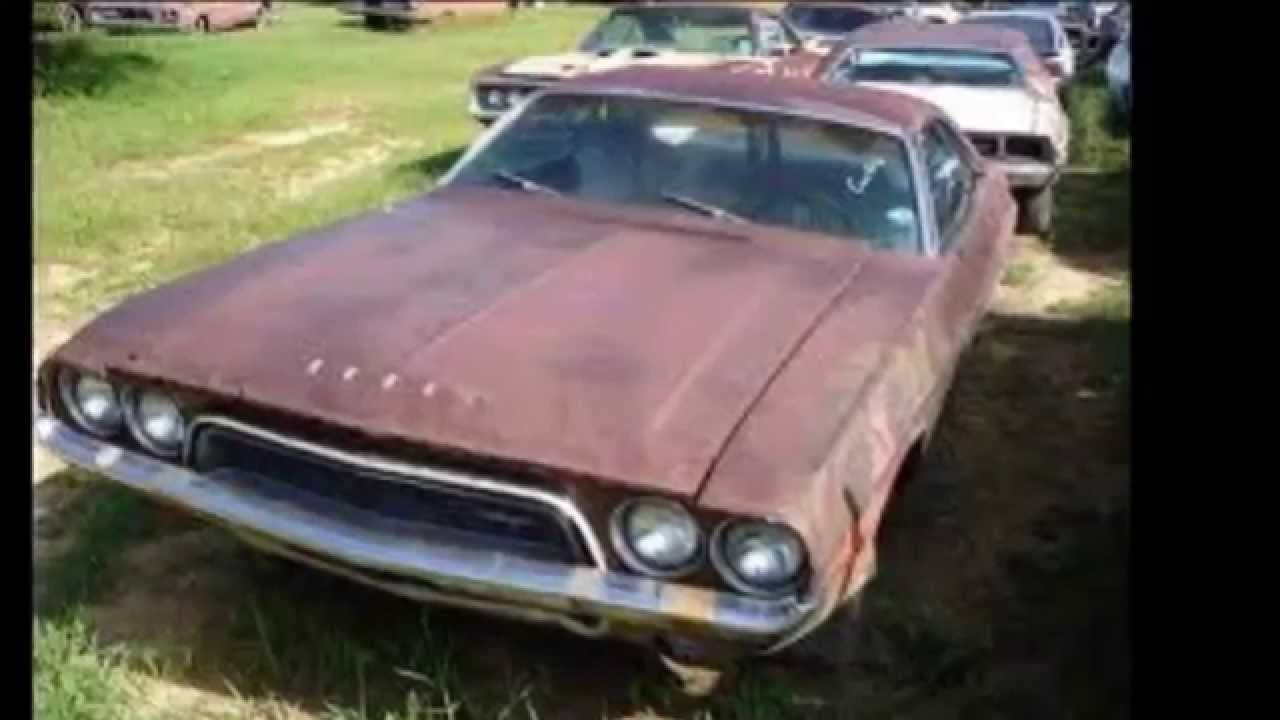 Junkyard muscle cars - YouTube