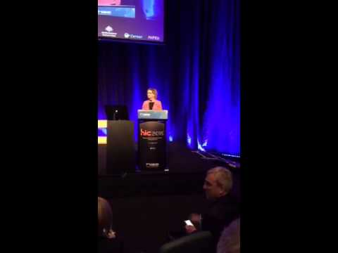 Hon. Susan Ley MP Minister for Health and Sport addresses HIC 2015