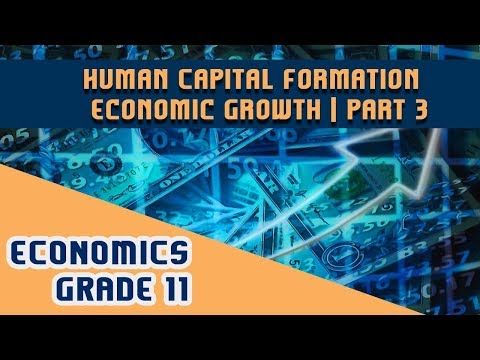Economics Chapter 5 | Part 3 | Human Capital Formation - Economic Growth