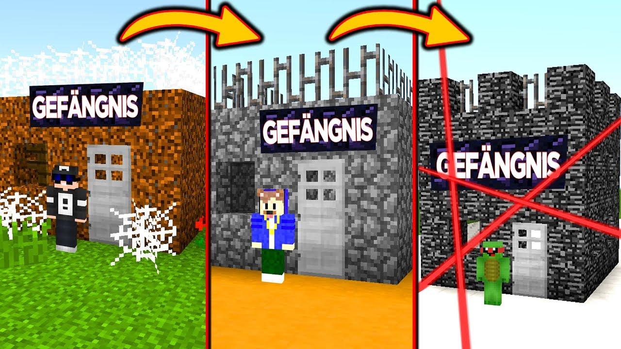 Vom NOOB GEFÄNGNIS Zum PRO GEFÄNGNIS In Minecraft YouTube - Minecraft gefangnis spiele