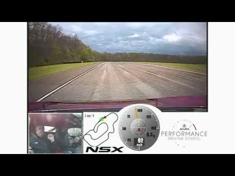 NSX track driving