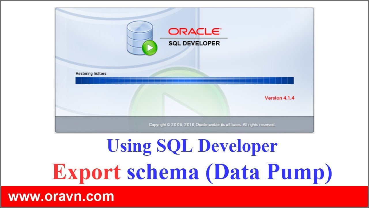 SQL Developer: EXPORT tables, schemes or whole database via Oracle SQL  Developer