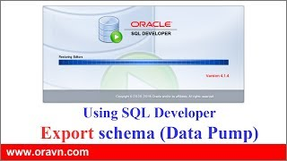 SQL Developer: EXPORT tables, schemes or whole database via Oracle SQL Developer.
