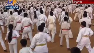 Hundreds of Students |Conducted  Karate Show in Nellore | For  Genius Book of World Record