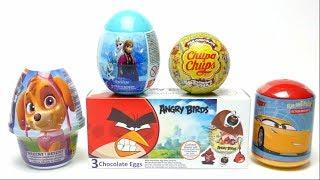 Chupa Chups Chocolate Ball Surprise Egg Angry Bird and Paw Patrol Pudding