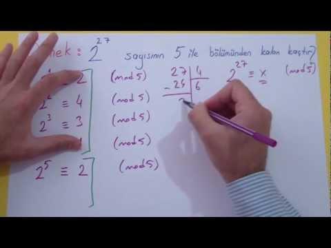 Modüler Aritmetik Şenol Hoca Matematik