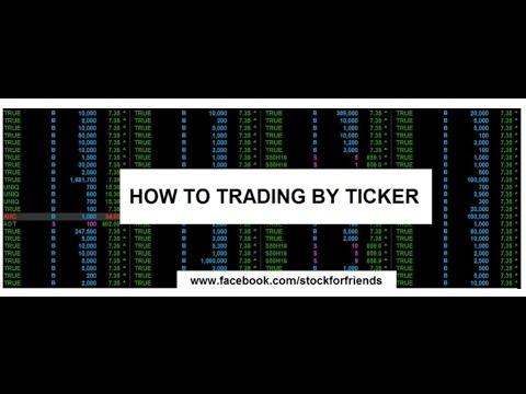 Ticker trade : เฝ้าหน้าจอTicker พร้อมคู่มือ Bid offer เพื่อเก็งกำไร+Case study