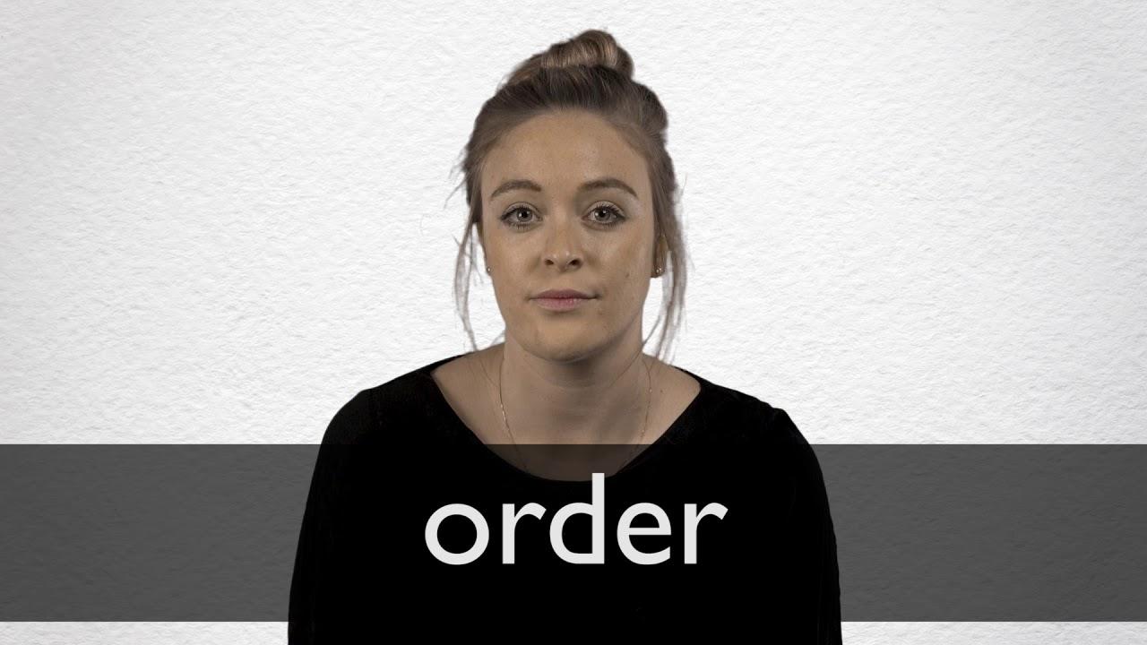 Order Definition und Bedeutung  Collins Wörterbuch