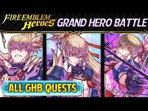 Fire Emblem Heroes - Grand Hero Battle: Takumi INFERNAL+ALL Quests F2P Friendly Guide