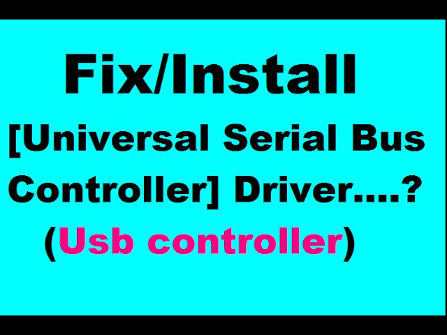 usb controller driver windows 7 64 bit free download