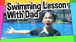 Swimming lesson with Dad FAIL!!!!