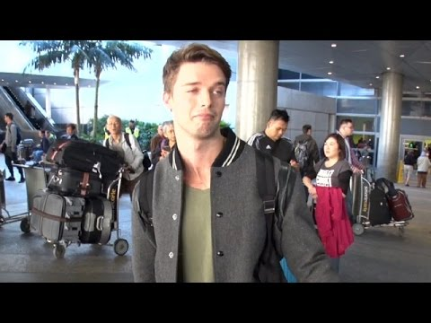 Patrick Schwarzenegger Makes The Funniest Face When Asked If He And Abby Are Serious