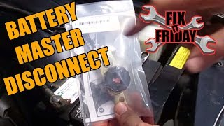 Top Post Battery Master Disconnect Switch (Gama Electronics)