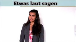 Synonyme für sagen - Ein anderes Wort für sagen. Deutsch lernen mit Videos. Online Deutsch lernen