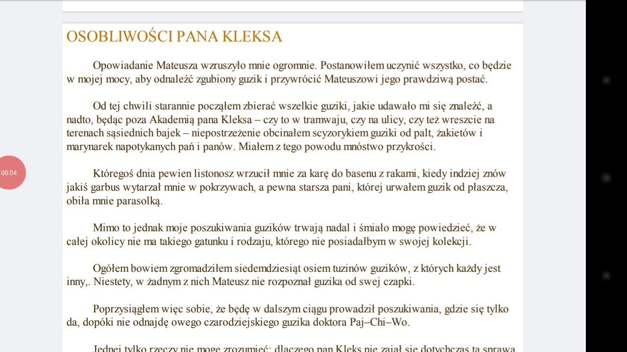 Akademia Pana Kleksa Rozdzial 3 Osobliwosci Pana Kleksa Youtube