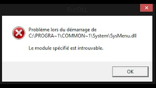 Fix RunDLL Startup Errors ( The specified module could not be found)