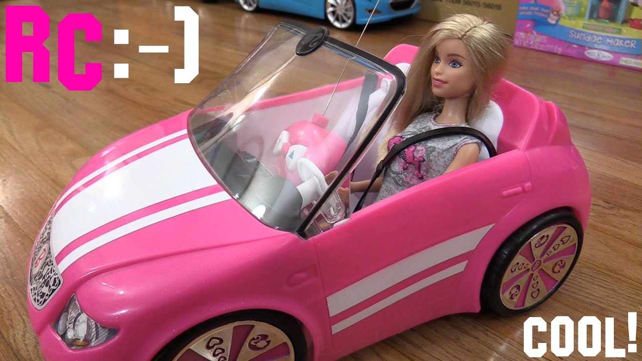 Toys For Little S Barbie Rc Convertible Car Malibu Avenue Unboxing And Playtime You