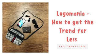 Fall Bag Trends 2018 | Logomania  Get the Trend for Less| Vintage Gucci, Vintage Dior, Fendi