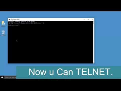 How do you use telnet?