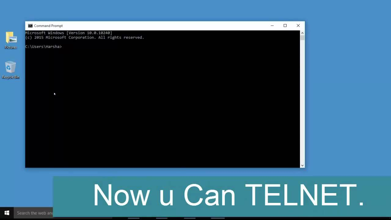 how to open terminal on windows 10