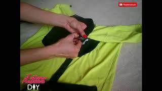 Что сделать из старой футболки   Перешиваем футболку   DIY T Shirt Recycle