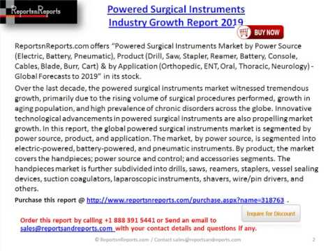 Powered Surgical Instruments Industry By Geography (Europe, North America, Asia-Pacific) 2019