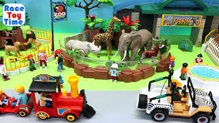 School Bus Trip to the Playmobil Zoo - Fun Animals Toys For Kids