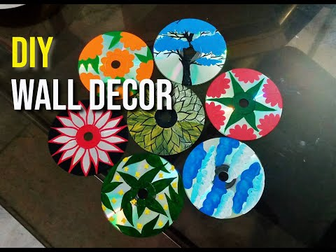 DIY Wall Decor with decorated CD & DVD   The Design Room