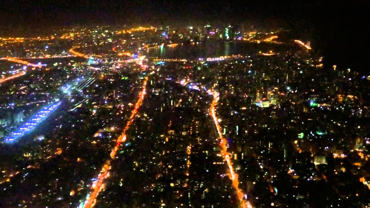 Mumbai City Wallpaper Hd Night Take Off From Mumbai Airport Sea Link View Youtube