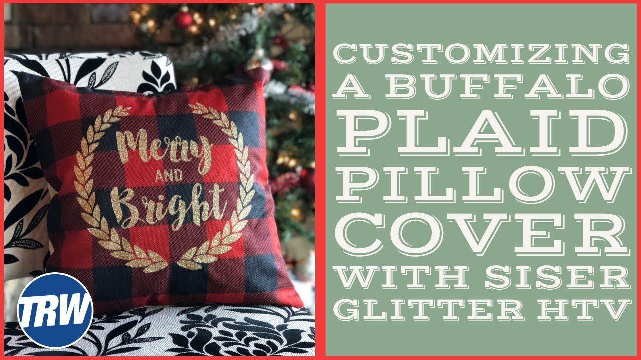 buffalo plaid christmas pillow covers