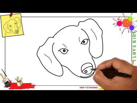 How To Draw A Dog Face (head) EASY & SLOWLY Step By Step For Kids And Beginners