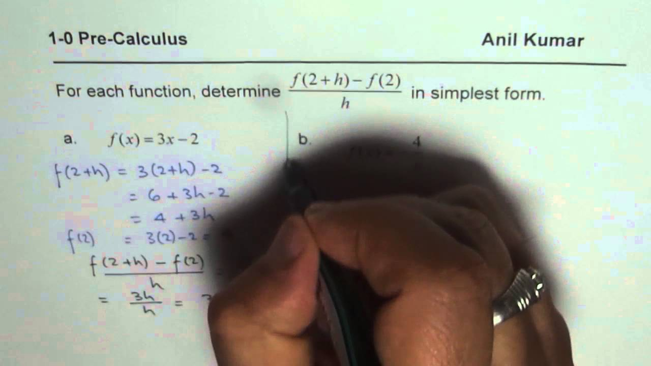 How do I find and simplify a difference quotient?