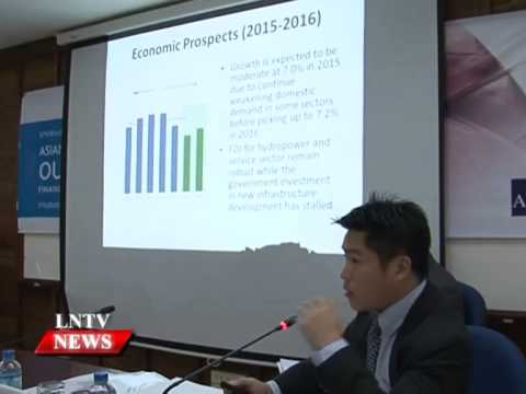 Lao NEWS on LNTV: ADB report predicts that Laos will maintain robust growth at around 7%.25/3/2015