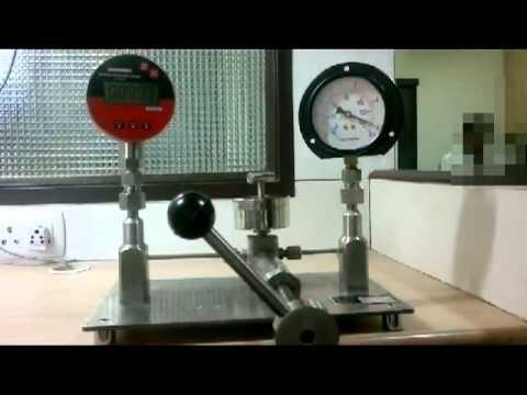 Pressure Gauge Calibration Pressure Calibrator Youtube
