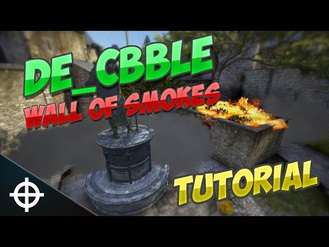 cobblestone B wall of smokes + bonus molotov - CS GO Tutorial