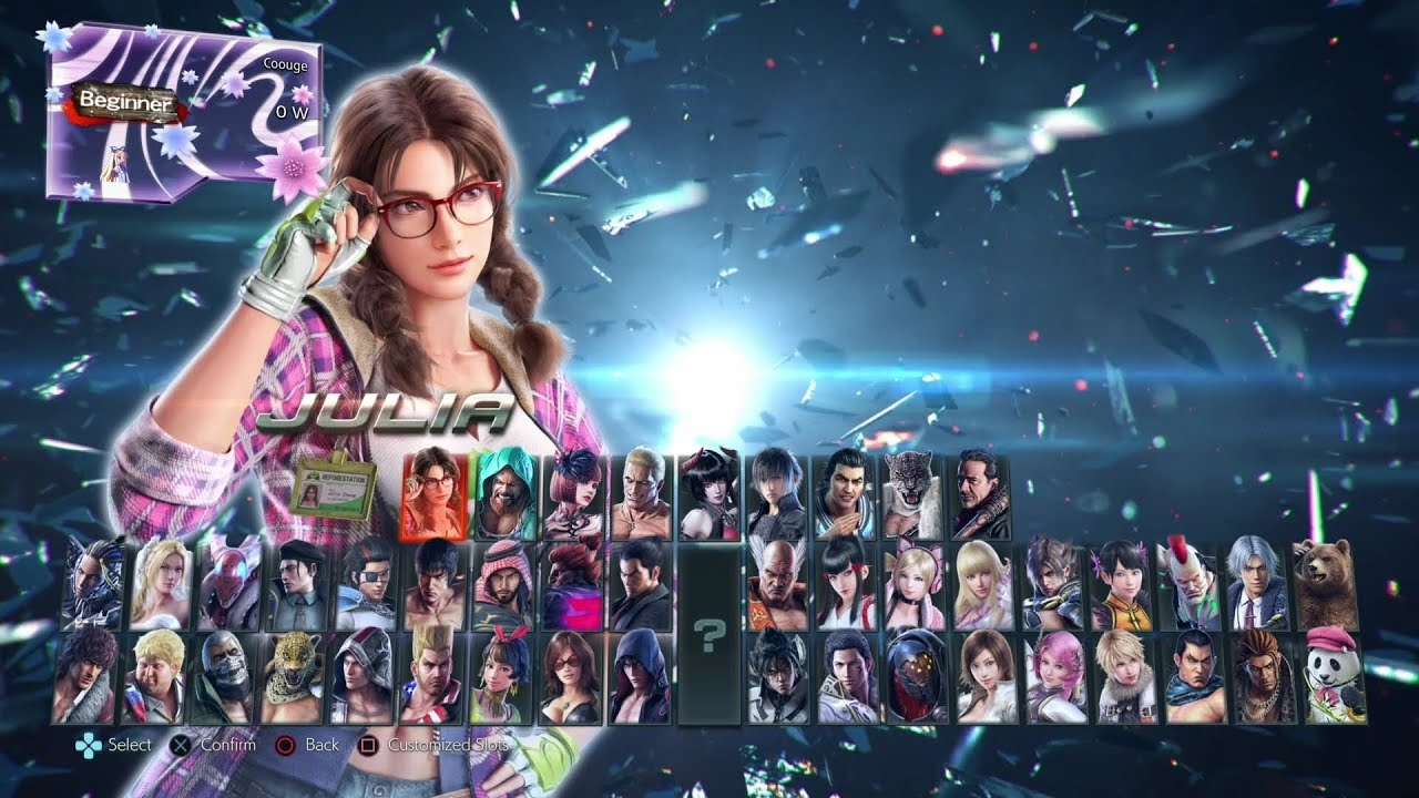 Tekken 7 Character Select Screen All Characters Dlc 2019 Youtube