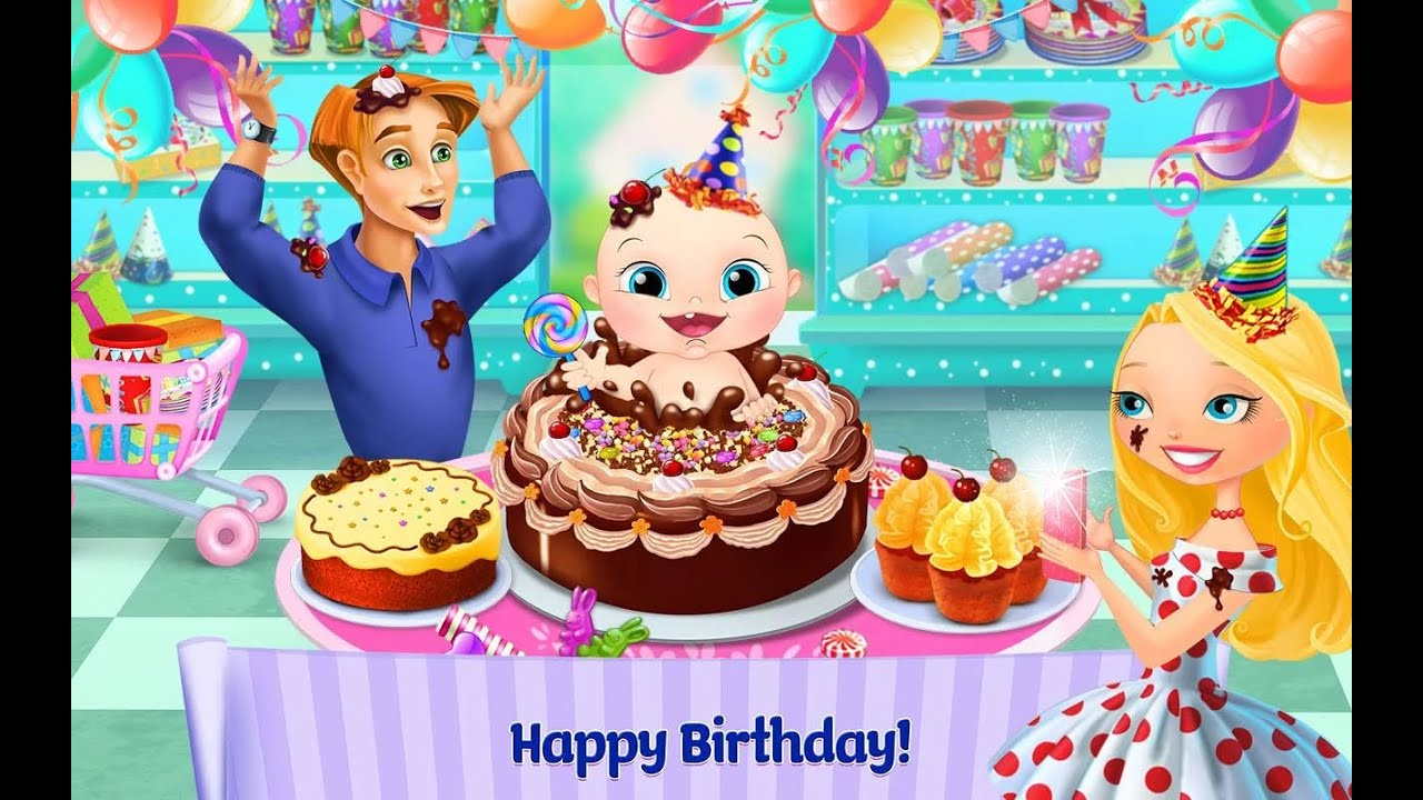 supermarket girl baby birthday tabtale unlock all android İos free