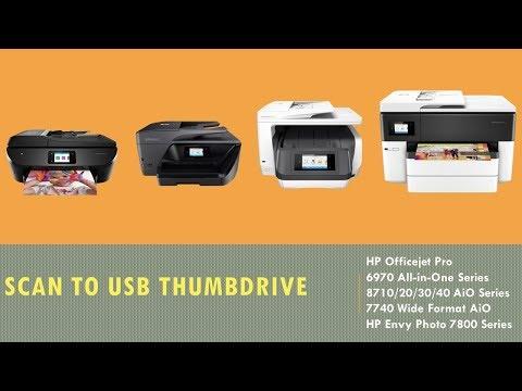 HP Printers : Scan to USB Thumbdrive