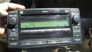 Штатный магнитофон Toyota. CD, mp3
