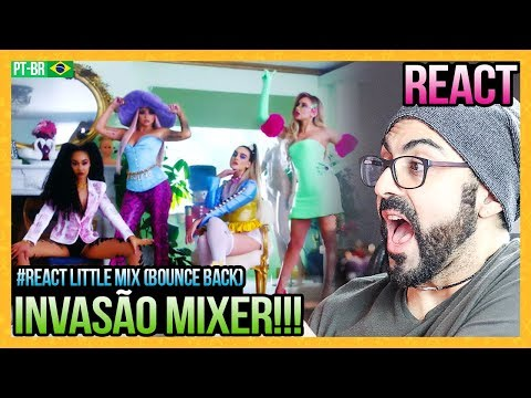 REAGINDO a Little Mix - Bounce Back (Official Video)