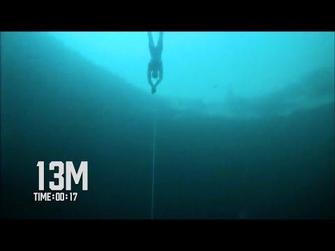 Steinlager CNF World Record Freedive 102m