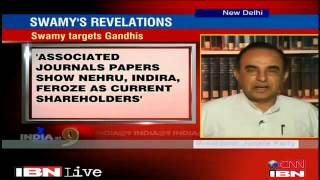 Dr Subramanian Swamy talks with Rajdeep Sardesai about Gandhi family frauds exposed on Nov 1, 2012